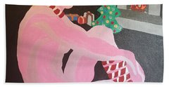 Beach Towel featuring the painting Tenth Christmas by Erika Chamberlin