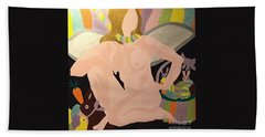 Beach Towel featuring the painting Tenth Easter by Erika Chamberlin