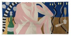 Beach Towel featuring the painting Tenth New Years Eve by Erika Chamberlin