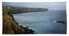 Terceira Coastline Beach Towel by Kelly Hazel