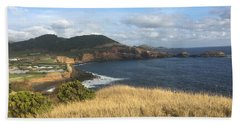Terceira Coastline, The Azores, Portugal Beach Sheet by Kelly Hazel