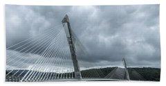 Terenez Bridge I Beach Towel by Helen Northcott