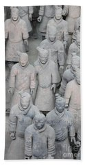 Terra Cotta Warriors Detail Beach Towel