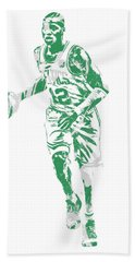 Terry Rozier Boston Celtics Pixel Art 10 Beach Towel
