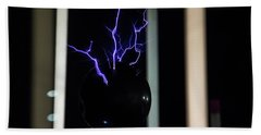 Tesla Coil 2 Beach Towel