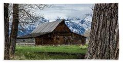 Beach Towel featuring the photograph Teton Barn #1 by Scott Read