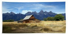 Teton Barn 3 Beach Towel by Marty Koch