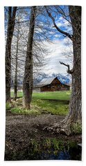 Beach Towel featuring the photograph Moulton Barn On Mormon Row by Scott Read