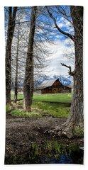 Moulton Barn On Mormon Row Beach Sheet