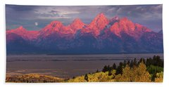 Teton Moonset Beach Sheet