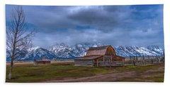Teton National Park Mormon Row Beach Towel