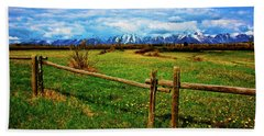 Beach Towel featuring the photograph Teton Park Spring by Norman Hall