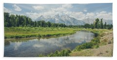 Teton Reflections Beach Towel