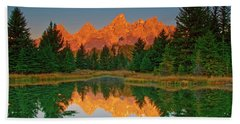 Teton Sunrise Beach Towel