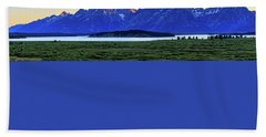 Beach Towel featuring the photograph Teton Sunset by David Chandler
