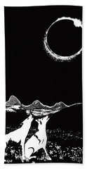 Teton Total Solar Eclipse Beach Towel