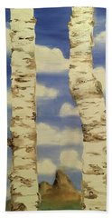Teton View Thru Aspens Beach Towel