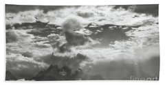 Tetons And Storm Clouds Beach Towel