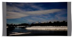 Tetons At Moonlight Beach Towel
