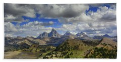 Tetons In Early September Beach Towel