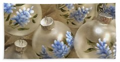 Texas Bluebonnet Ornaments Beach Sheet