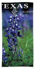 Beach Sheet featuring the mixed media Texas Bluebonnet State Flower by Daniel Hagerman