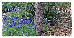 Texas Bluebonnets Beach Sheet