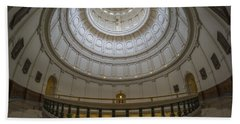 Texas Capitol Dome Wide Angle Beach Towel