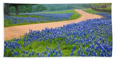 Texas Country Road Beach Towel