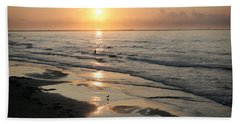 Texas Gulf Coast At Sunrise Beach Sheet by Marilyn Hunt