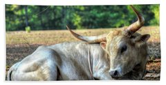 Texas Longhorn Gentle Giant Beach Towel