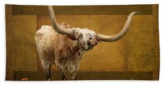 Beach Towel featuring the photograph Texas Longhorns by Ella Kaye Dickey