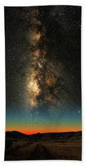 Texas Milky Way Beach Towel by Larry Landolfi