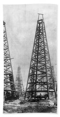 Texas: Oil Derricks, C1901 Beach Towel