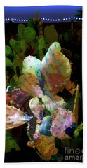 Texas Prickly Pear Posterized Photograph Beach Sheet