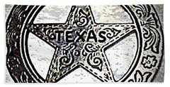 Beach Towel featuring the photograph Texas Ranger Badge by George Pedro