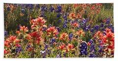 Texas Roadside Wildflowers Beach Sheet