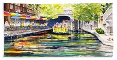 Texas San Antonio River Walk Beach Towel