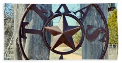 Texas Star Rustic Iron Sign Beach Sheet