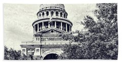 Texas State Capitol Beach Towel by Luther Fine Art