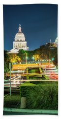 Texas State Capitol University Of Texas Beach Towel by Andy Crawford