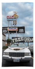 Texas Steak House Kitsch  Beach Towel