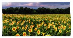 Texas Sunflowers Beach Towel