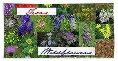 Texas Wildflower Collage Beach Sheet
