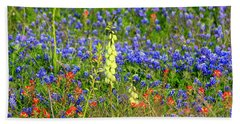 Beach Towel featuring the photograph Texas Wildflowers by Kathy White