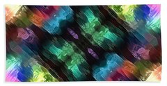 Textural Abstract Of Colors Beach Towel by Phil Perkins