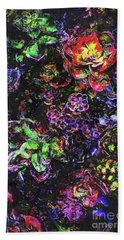 Textural Garden Plants Beach Towel by Phil Perkins