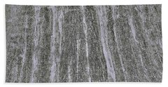 Texture In Grey Beach Towel by Nareeta Martin