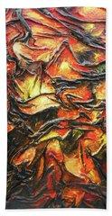 Texture Of Fire Beach Towel
