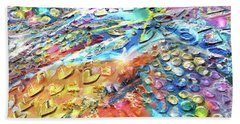Textured Color Play 2 Beach Towel
